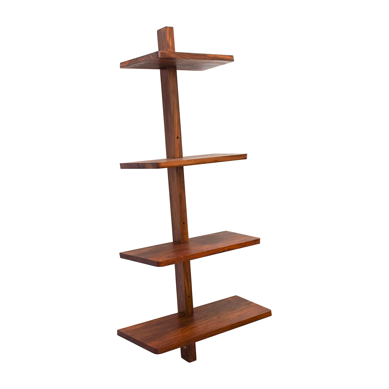 buy CB2 Wood Floating Wall Shelf CB2 Bookcases & Shelving