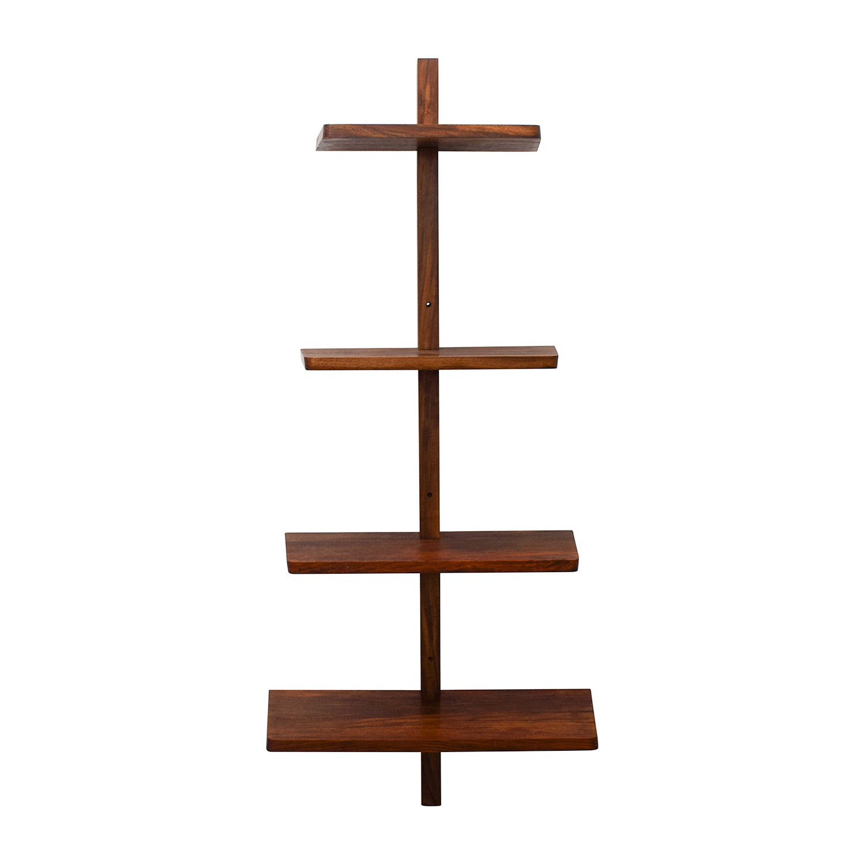 shop CB2 Wood Floating Wall Shelf CB2 Bookcases & Shelving