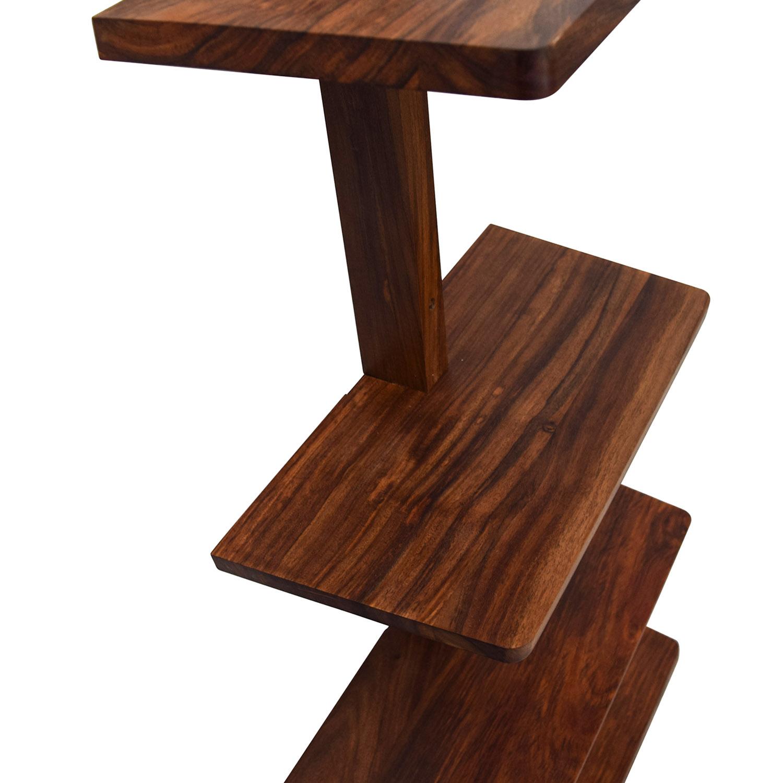 ... Buy CB2 Wood Floating Wall Shelf CB2 Storage