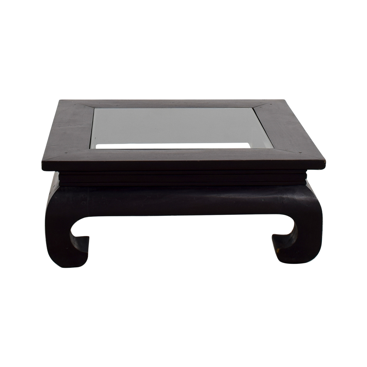 buy Javanese Mahogany and Glass Coffee Table Coffee Tables