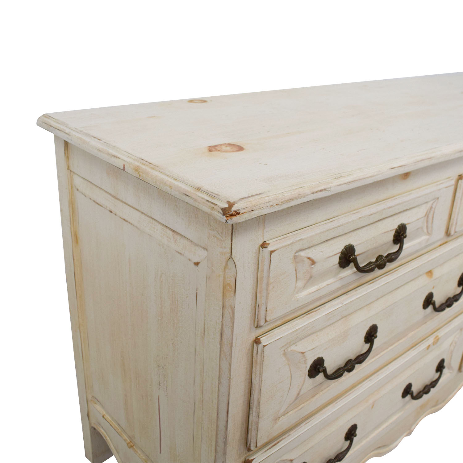 Habersham Plantation Habersham Plantation Distressed Seven-Drawer Distressed Cream Double Dresser dimensions