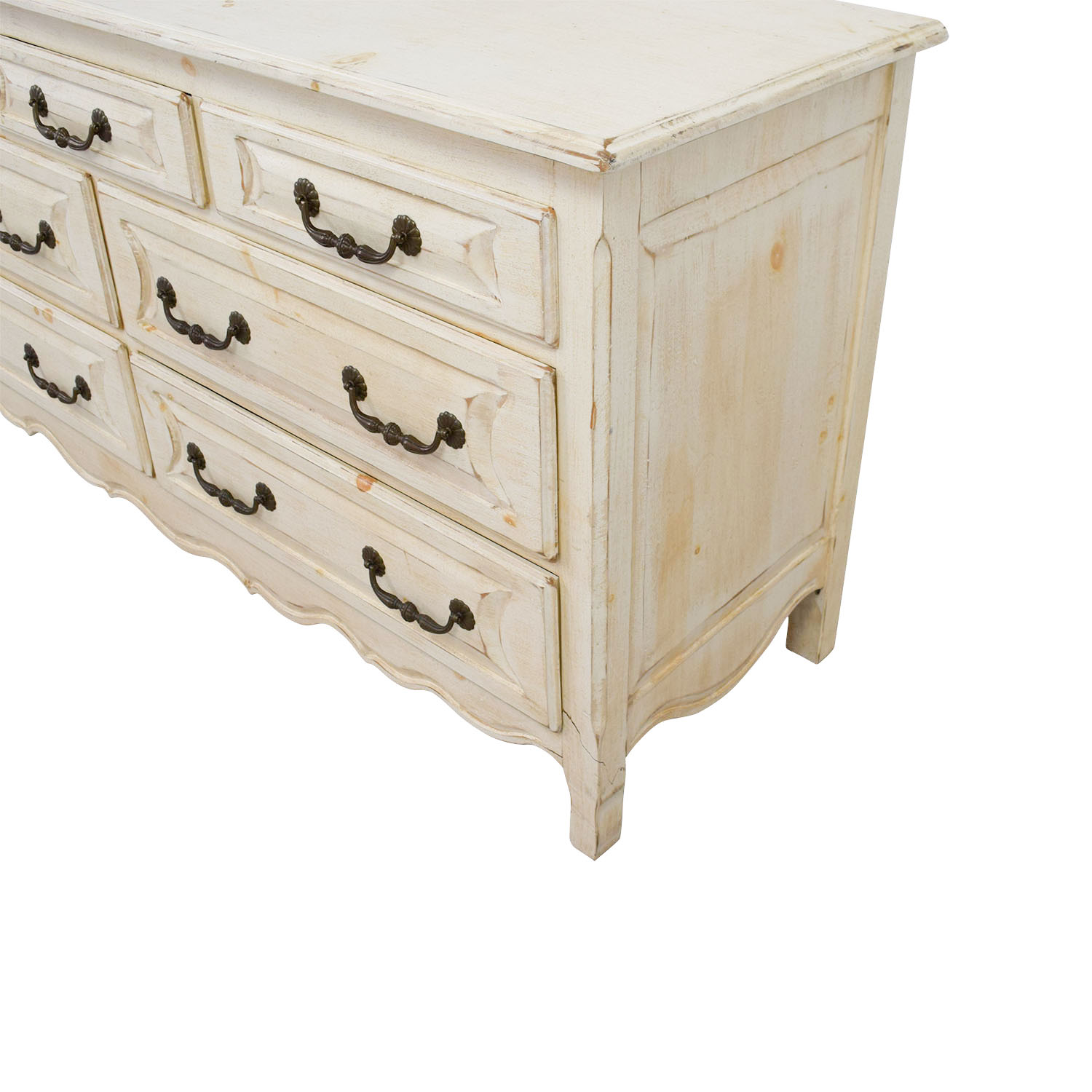 Habersham Plantation Habersham Plantation Distressed Seven-Drawer Distressed Cream Double Dresser price