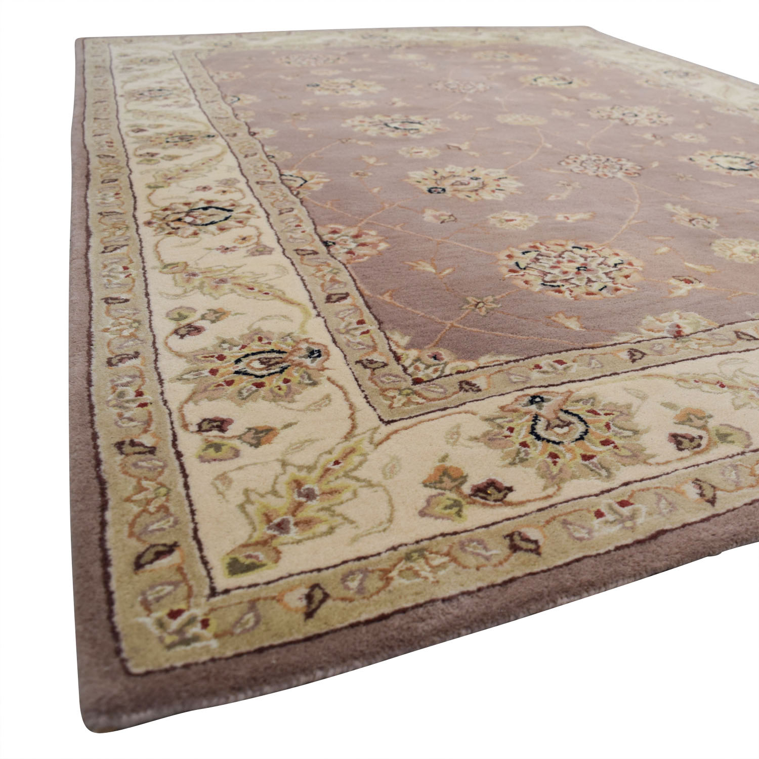 Pink Beige Oriental Rug for sale