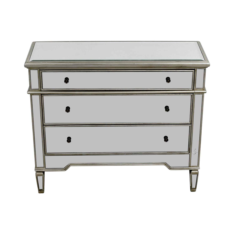 buy Ballard Design Deanna Mirrored Three-Drawer Dresser Ballard Design