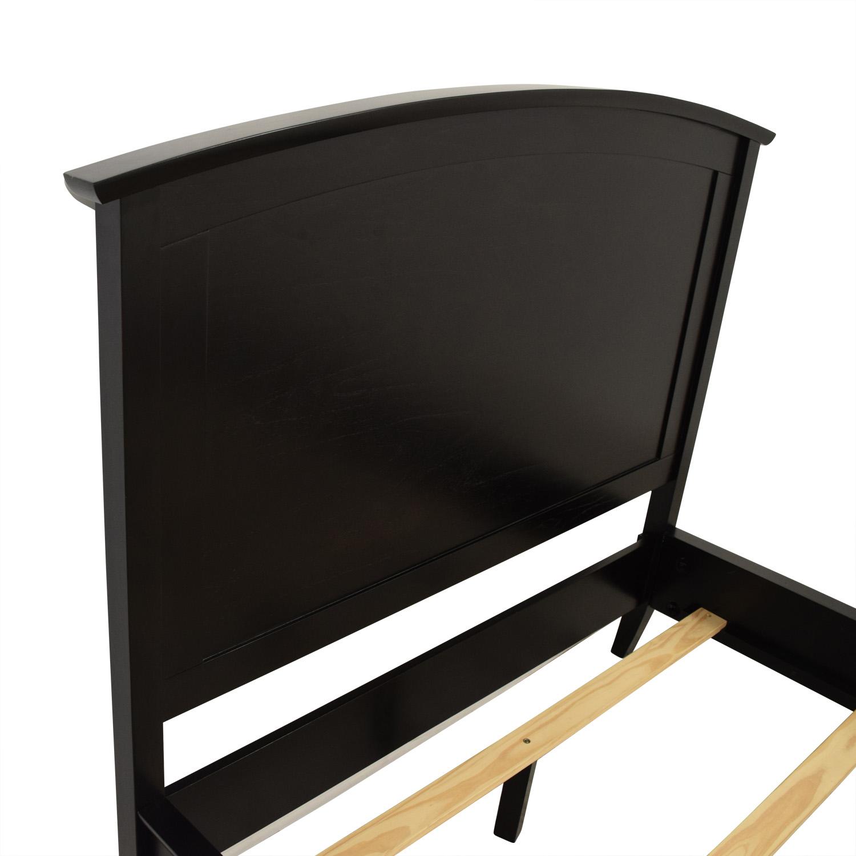 buy Pottery Barn Black Wood Full Bed Frame Pottery Barn Bed Frames
