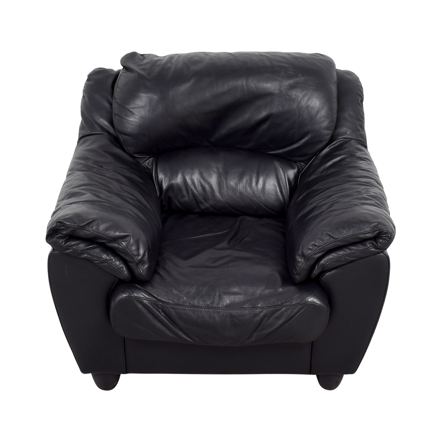 shop Raymour & Flanigan Raymour & Flanigan Black Leather Chair online