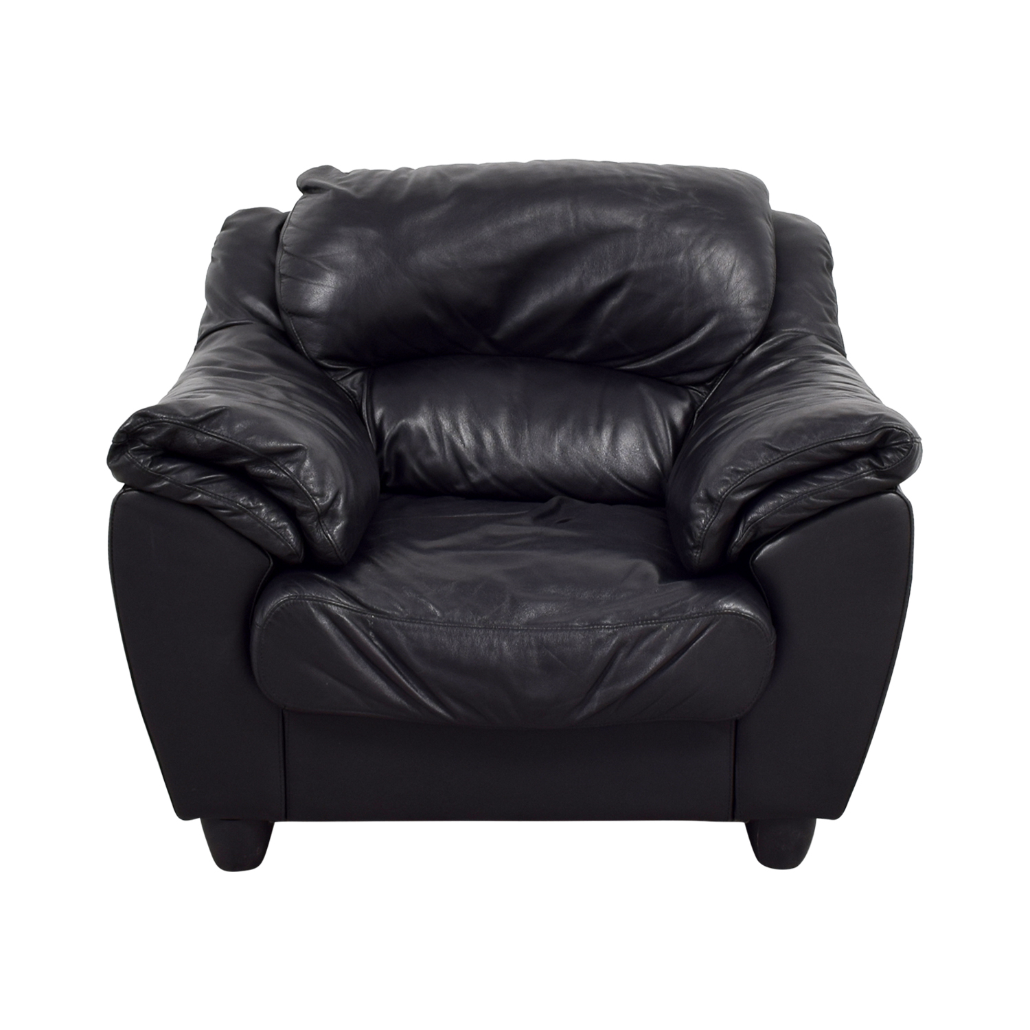 Raymour & Flanigan Raymour & Flanigan Black Leather Chair dimensions