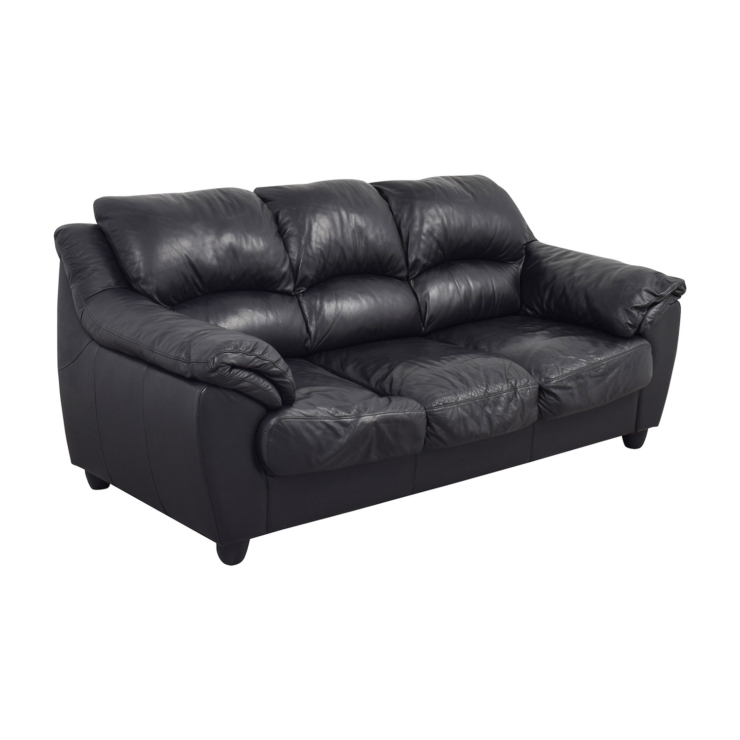 Tremendous 90 Off Raymour Flanigan Raymour Flanigan Black Leather Couch Sofas Short Links Chair Design For Home Short Linksinfo