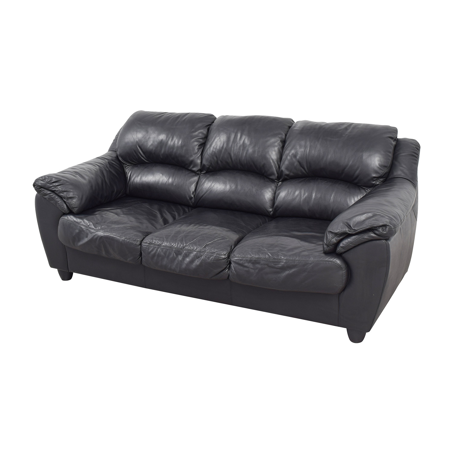 Astounding 90 Off Raymour Flanigan Raymour Flanigan Black Leather Couch Sofas Short Links Chair Design For Home Short Linksinfo