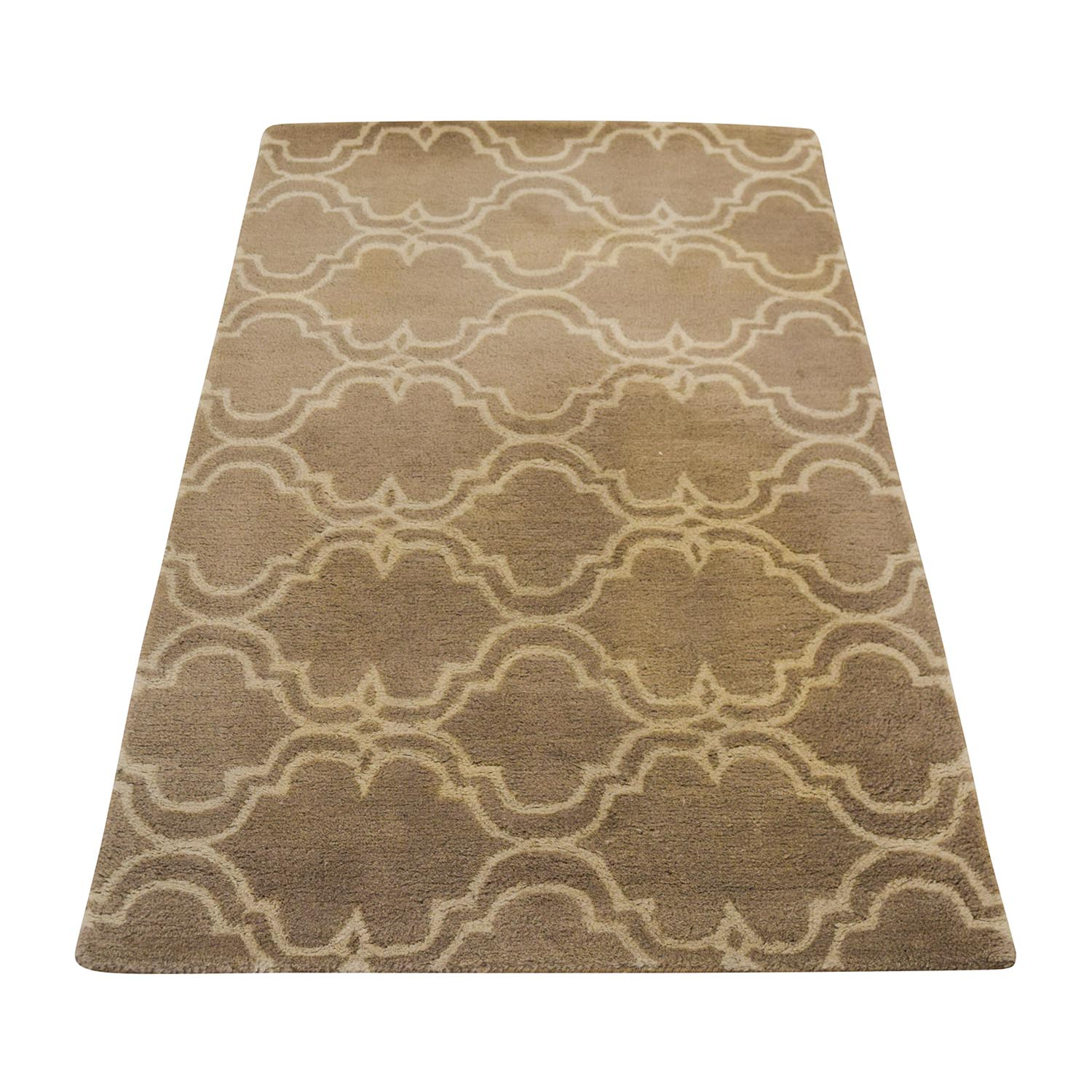 buy Pottery Barn Scroll Tile Wool Grey and White Rug Pottery Barn