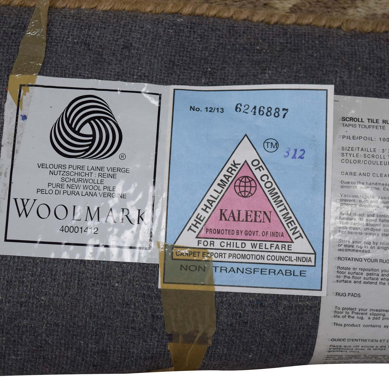 Pottery Barn Scroll Tile Wool Grey