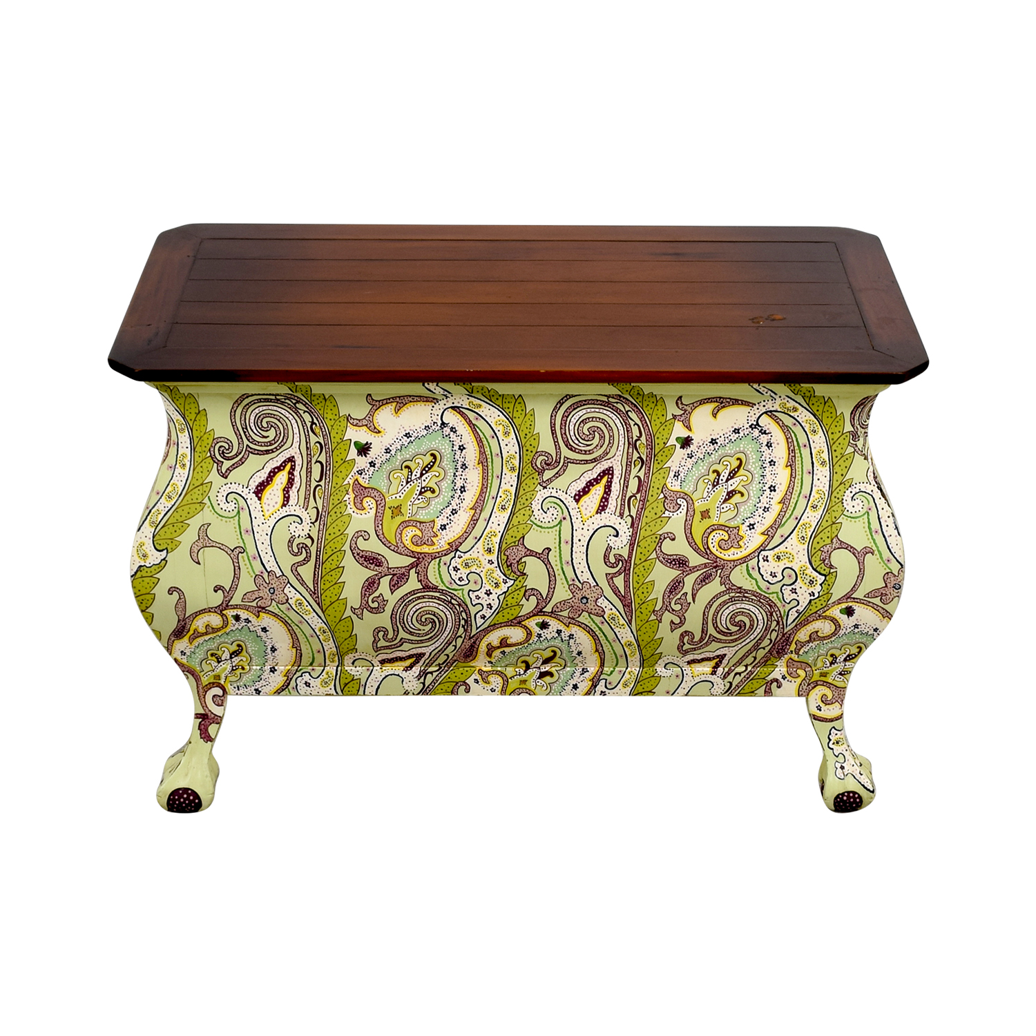 One Kings Lane One Kings Lane Hand Painted Indonesian Desk with Two-Drawers discount