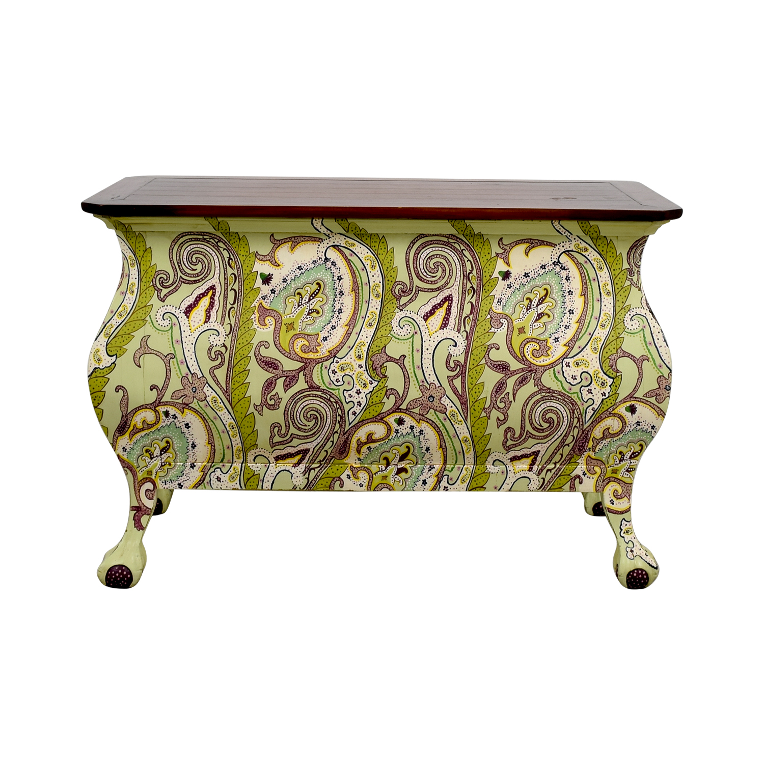 shop One Kings Lane Hand Painted Indonesian Desk with Two-Drawers One Kings Lane