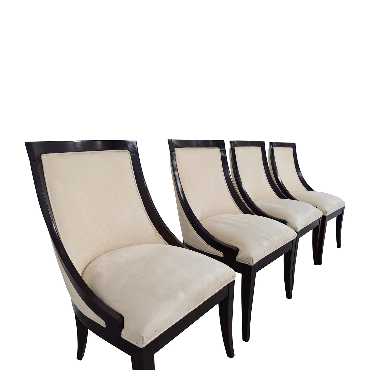 Restoration Hardware Cream Upholstered Dining Chairs sale