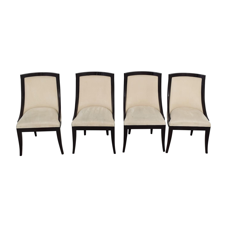 Restoration Hardware Cream Upholstered Dining Chairs Restoration Hardware