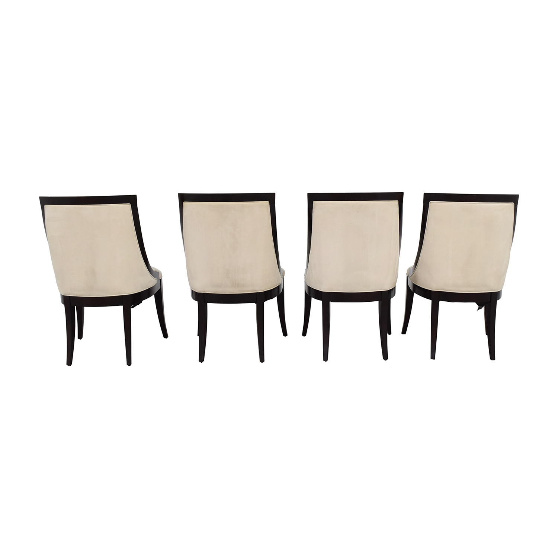 buy Restoration Hardware Cream Upholstered Dining Chairs Restoration Hardware