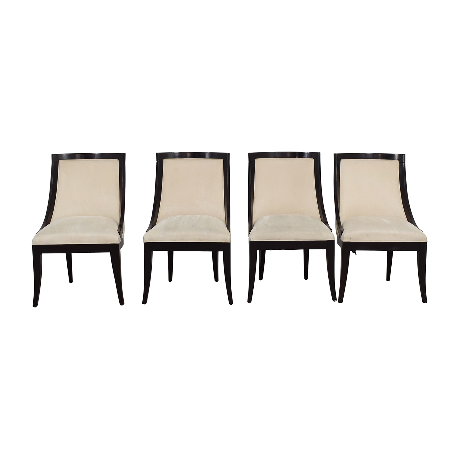 Restoration Hardware Restoration Hardware Cream Upholstered Dining Chairs  ...
