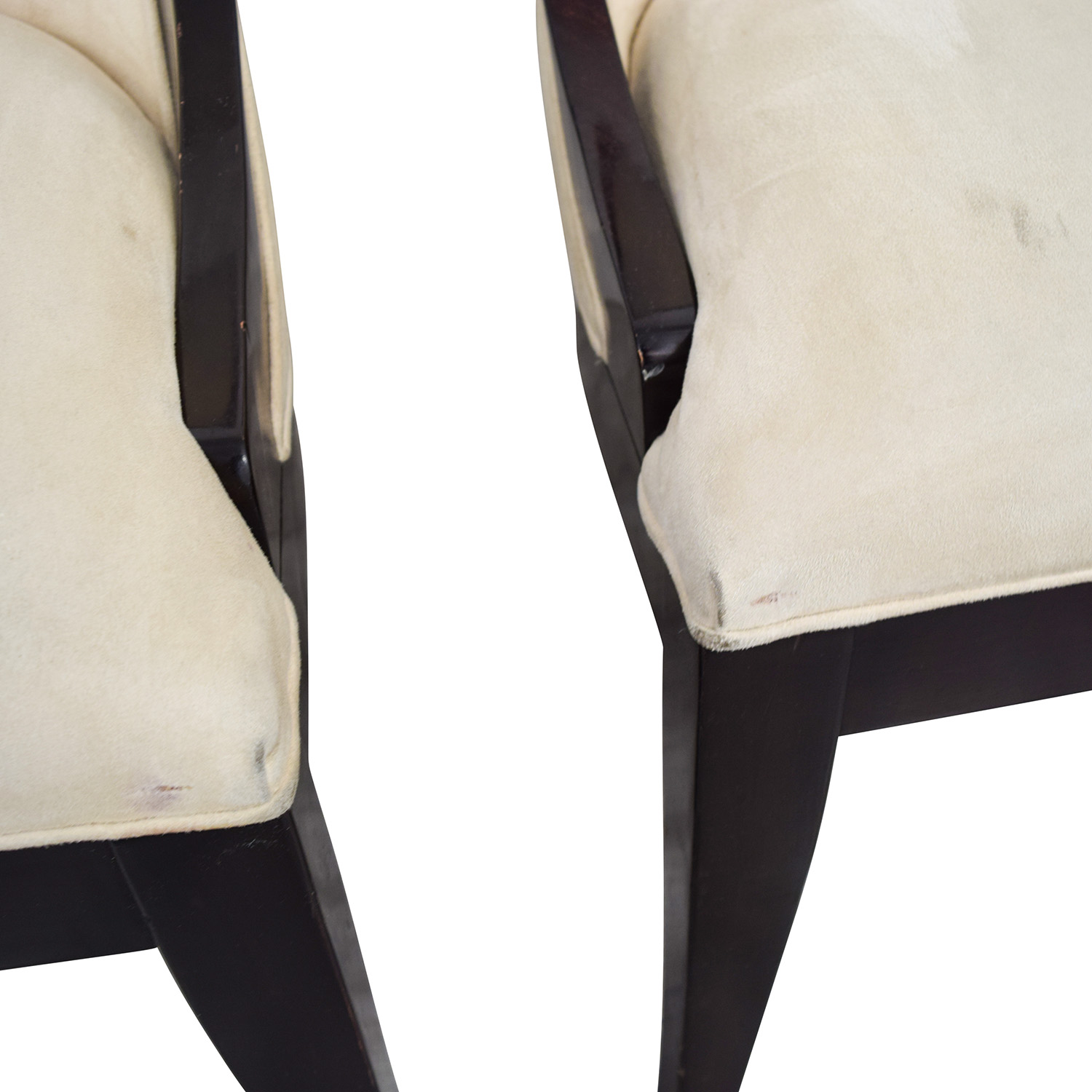 Restoration Hardware Restoration Hardware Cream Upholstered Dining Chairs second hand