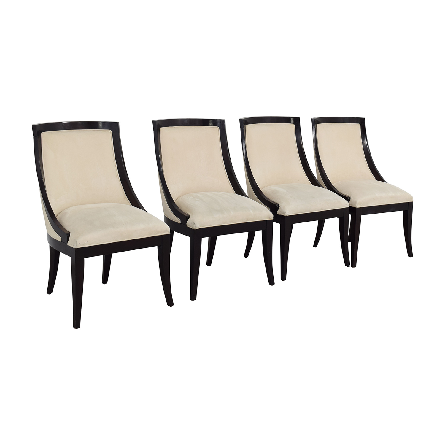 Restoration Hardware Restoration Hardware Cream Upholstered Dining Chairs on sale