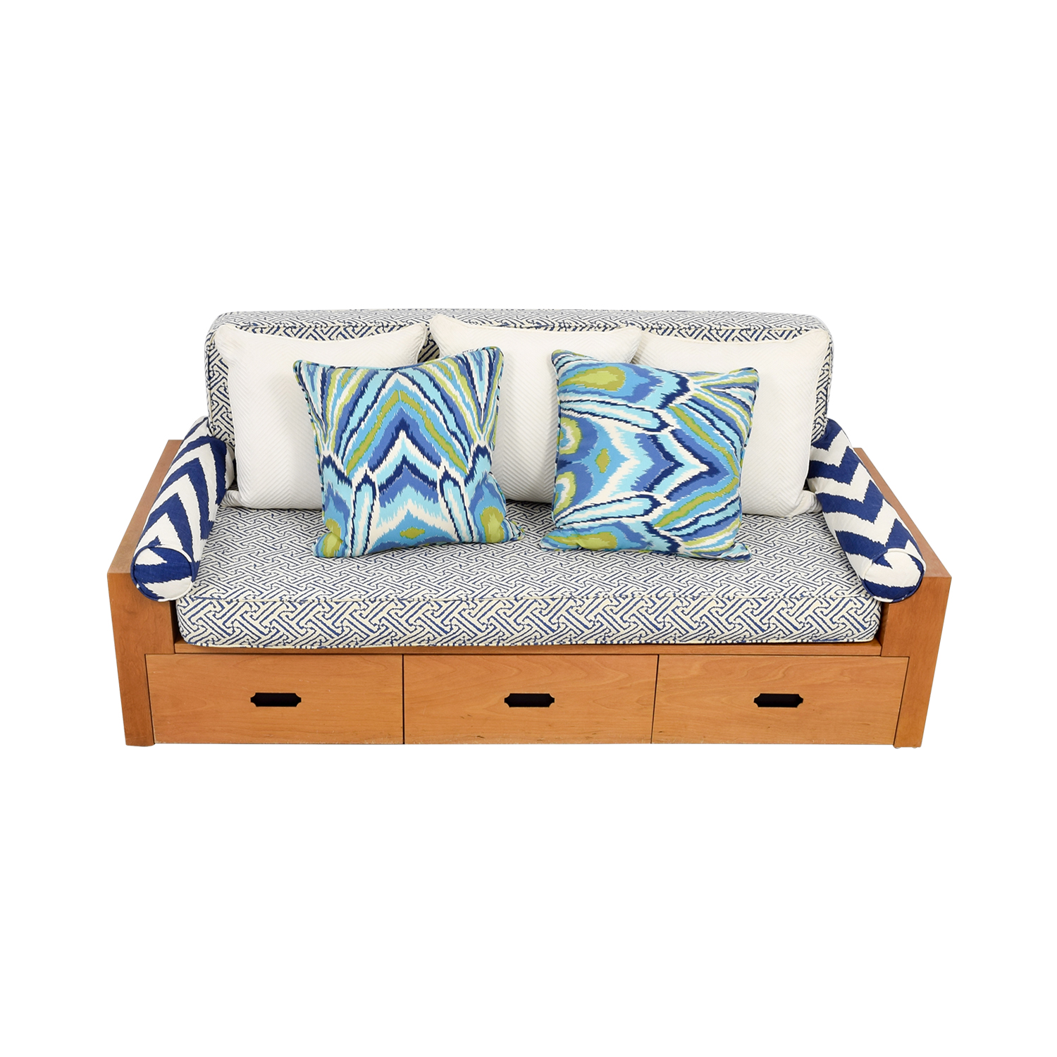 Custom Wood Daybed with Storage dimensions
