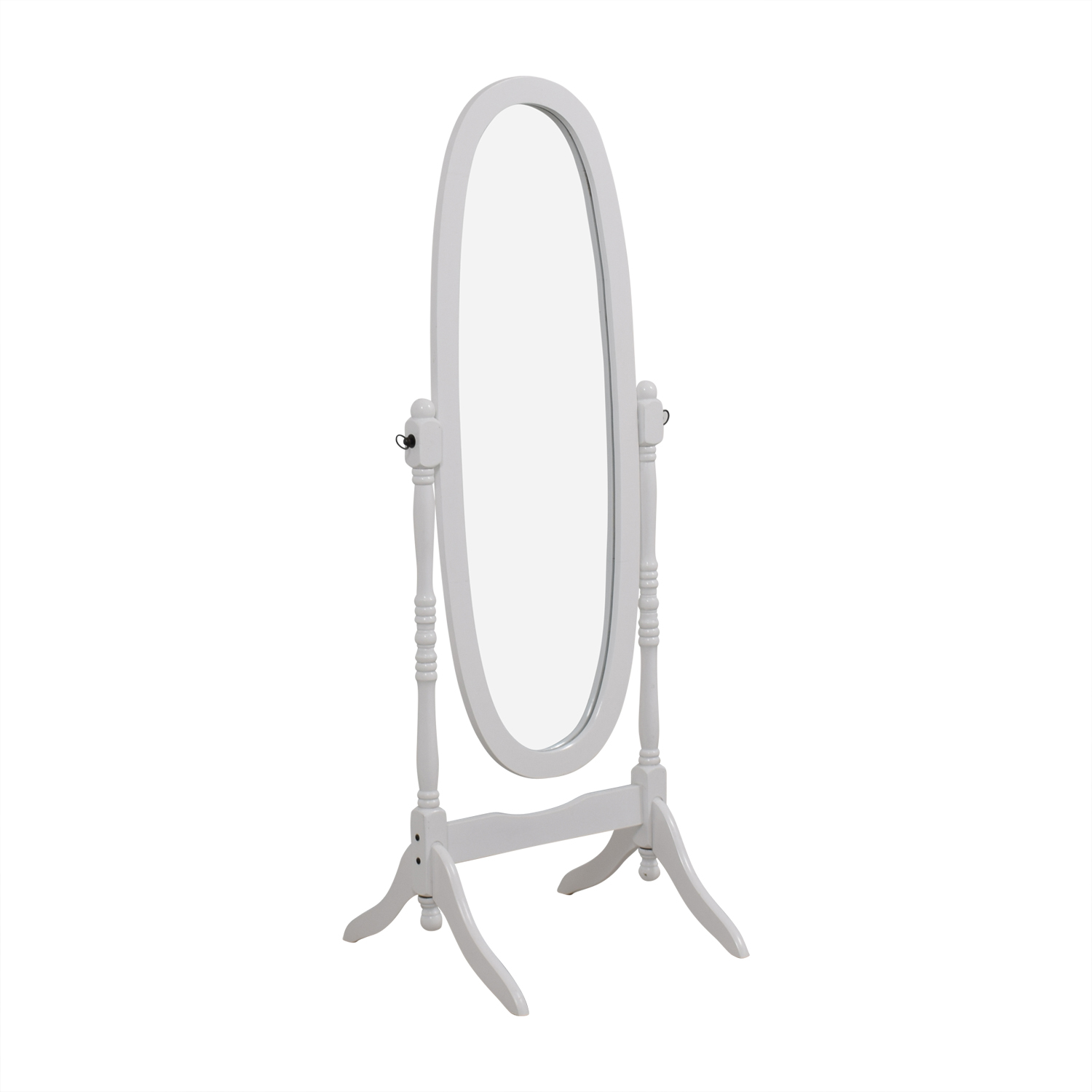 White Oval Floor Mirror Mirrors