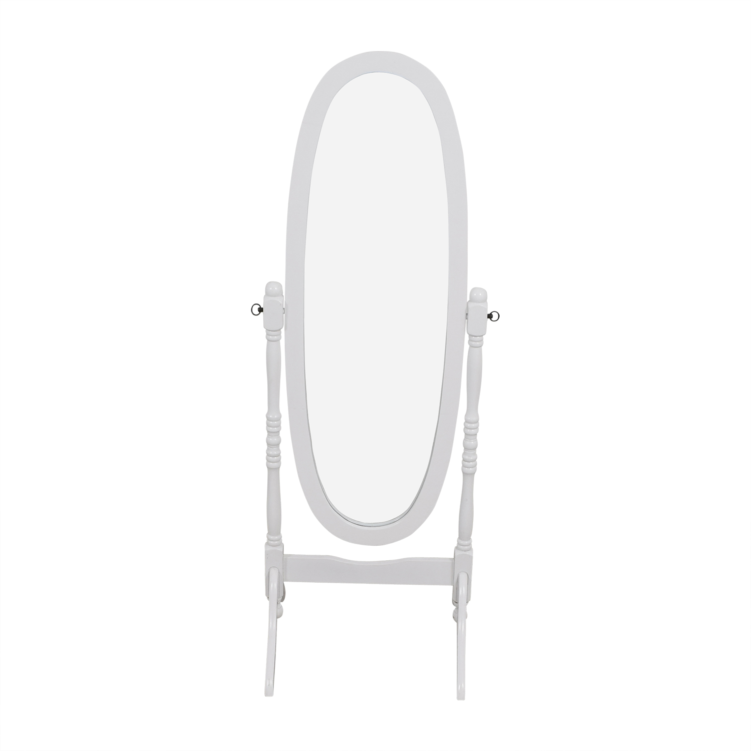 White Oval Floor Mirror / Mirrors