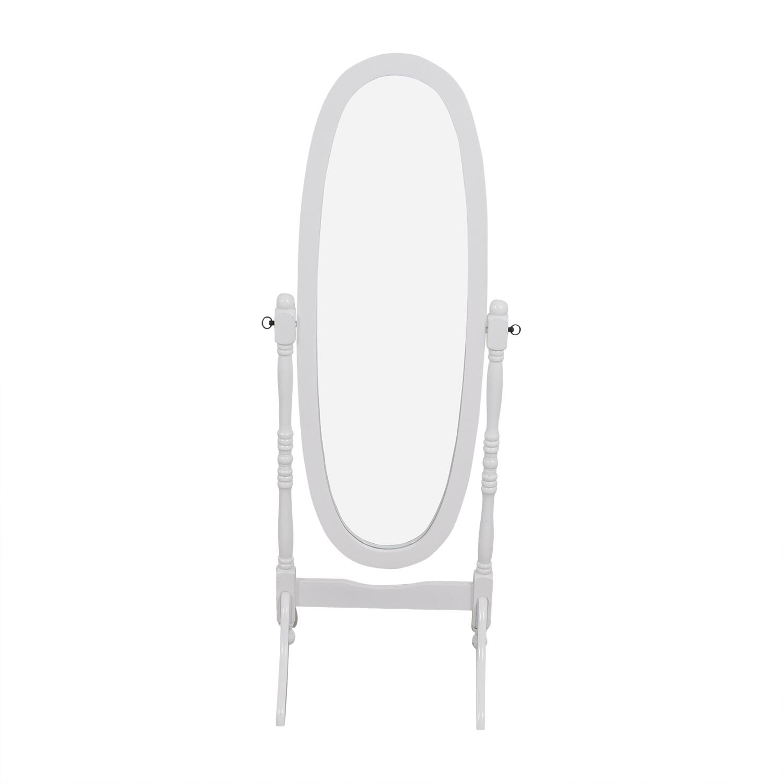 68 Off White Oval Floor Mirror Decor
