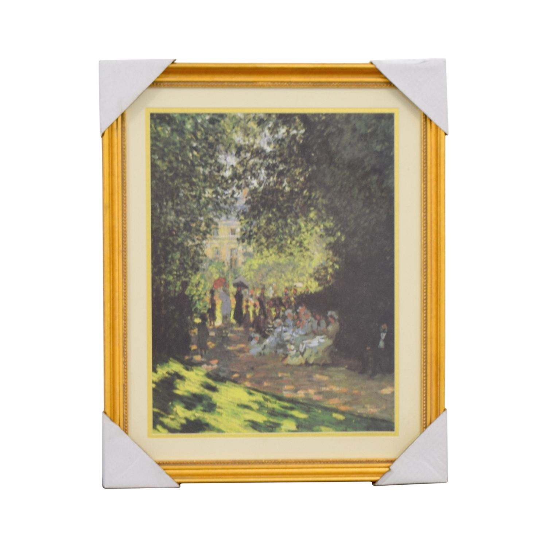Claude Monet Promenade En Parc Print discount