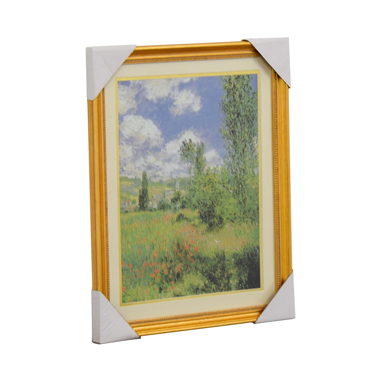Claude Monet Path Through the Poppies Ils Saint-Martin Print second hand