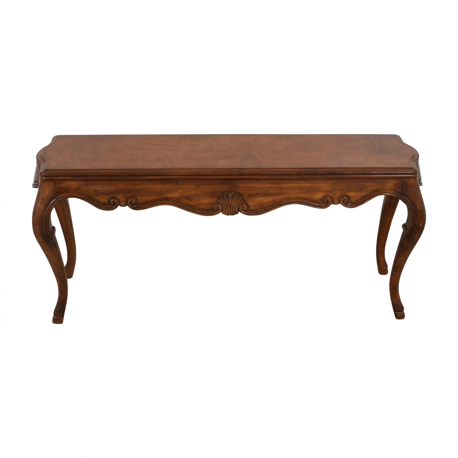 Astounding 82 Off Vintage Walnut Sofa Table Tables Andrewgaddart Wooden Chair Designs For Living Room Andrewgaddartcom