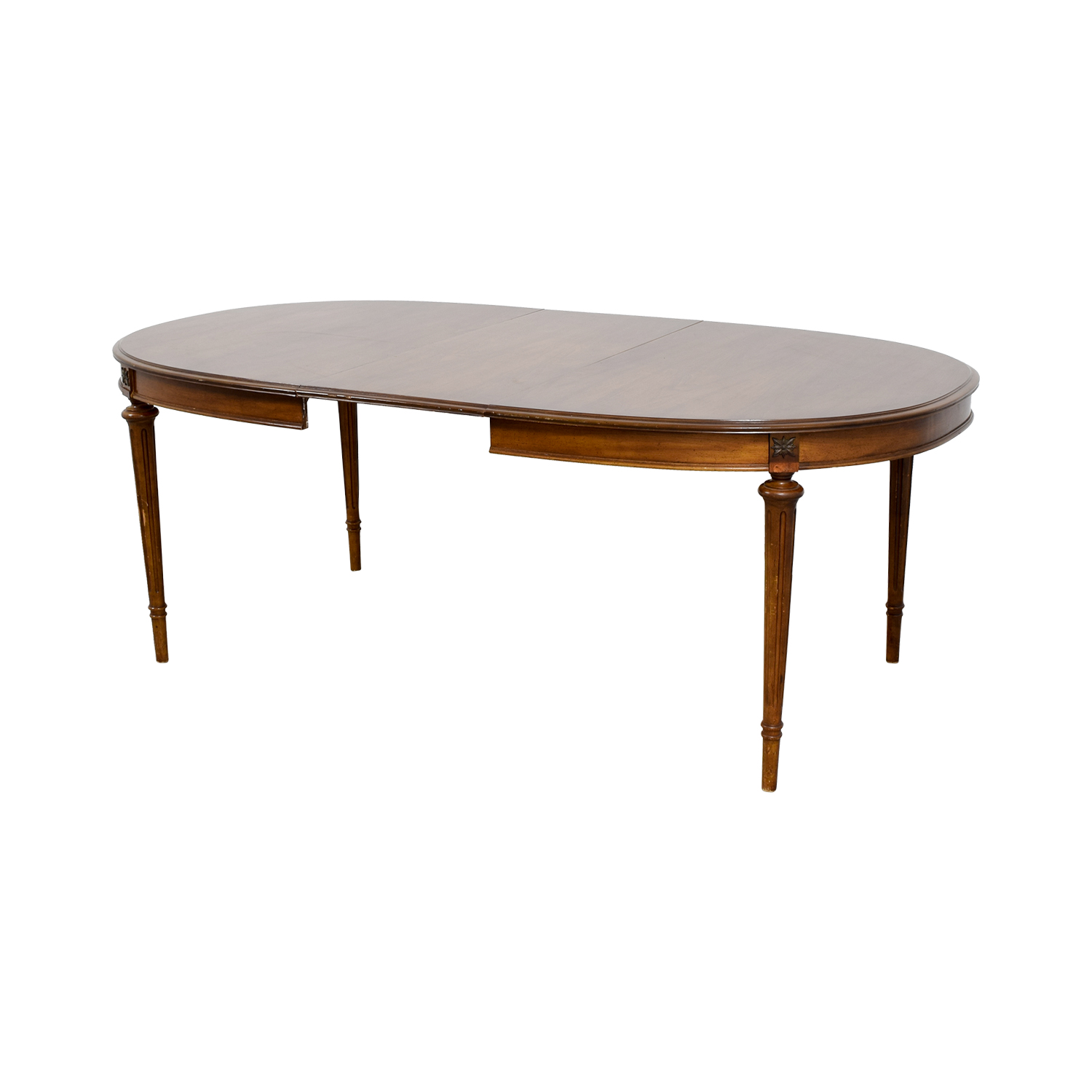 64 off wood extendable oval dining table tables for Buy dining table