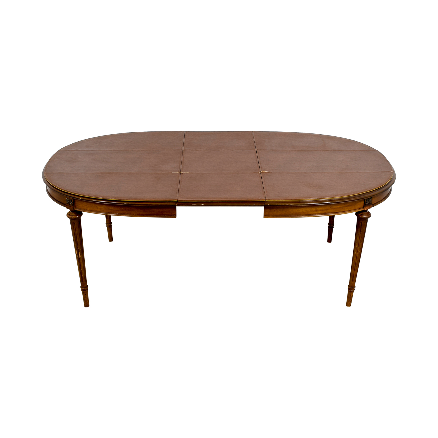 Wood Extendable Oval Dining Table discount