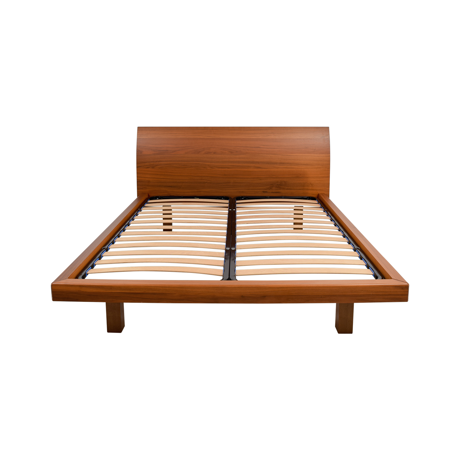 bed platform queen south ip shore oak munich weathered en