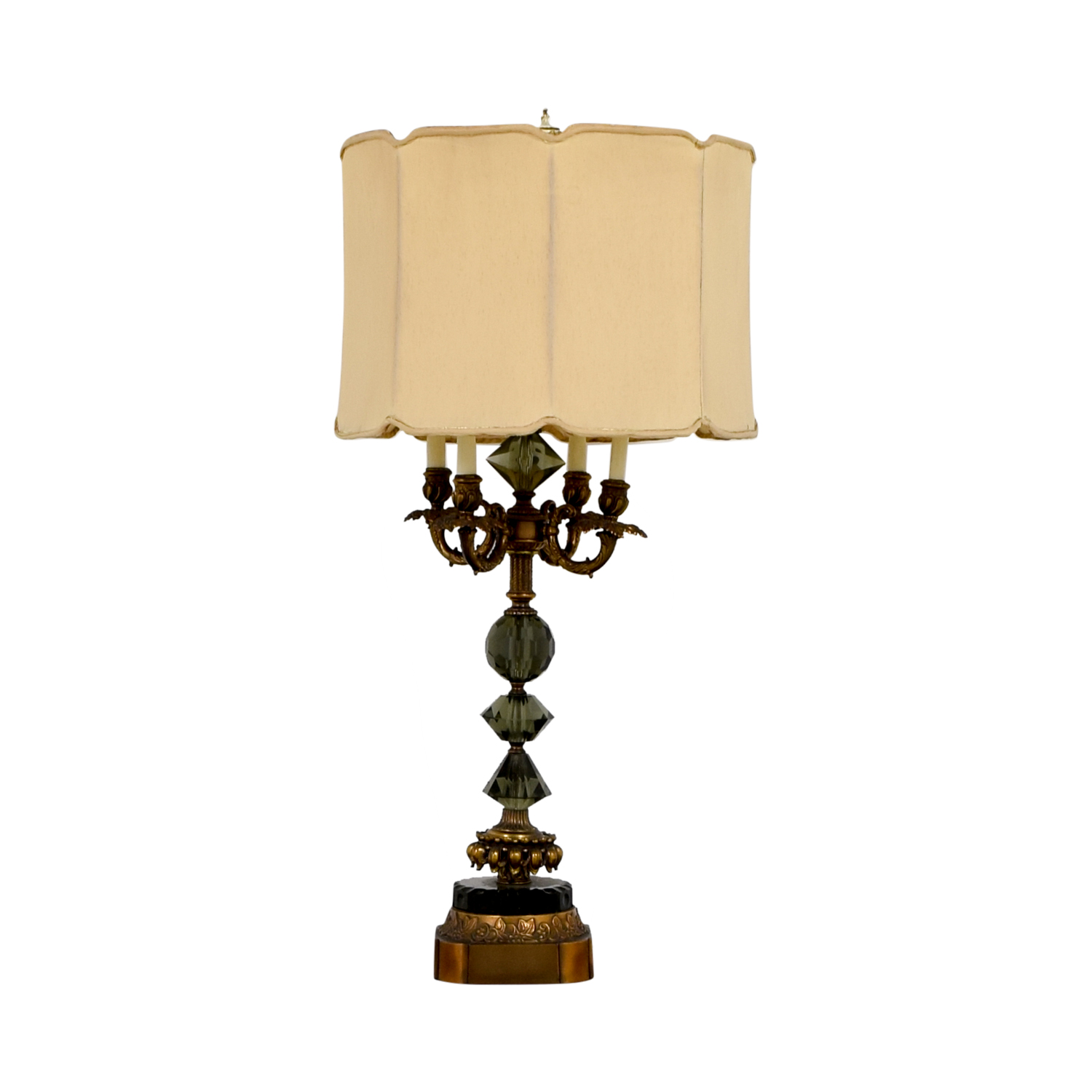Vintage Mid-Century Gold and Crystal Table Lamp price