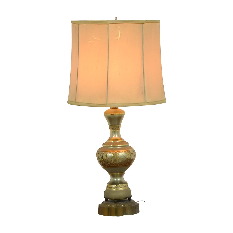 Vintage Mid-Century Gold Table Lamp on sale