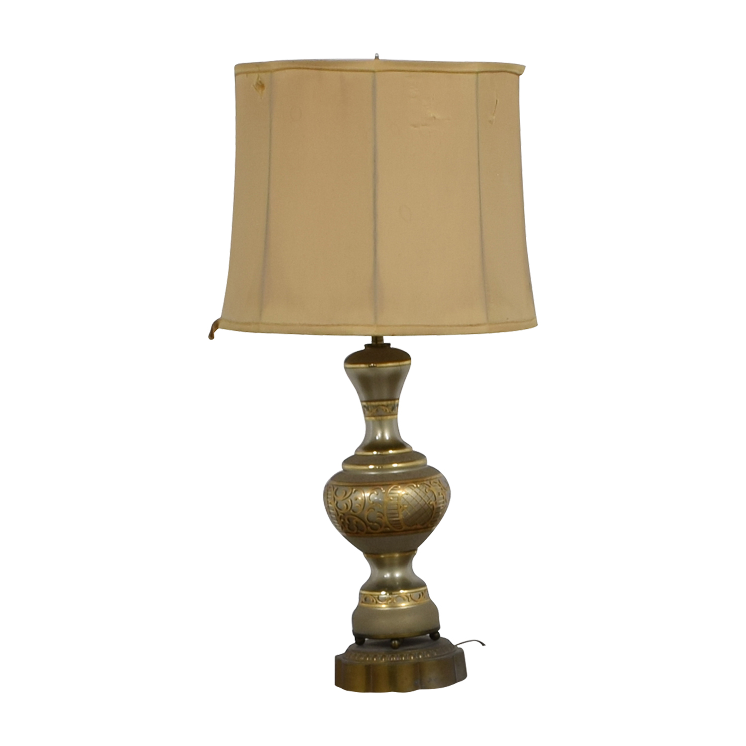 Vintage Mid-Century Gold Table Lamp coupon