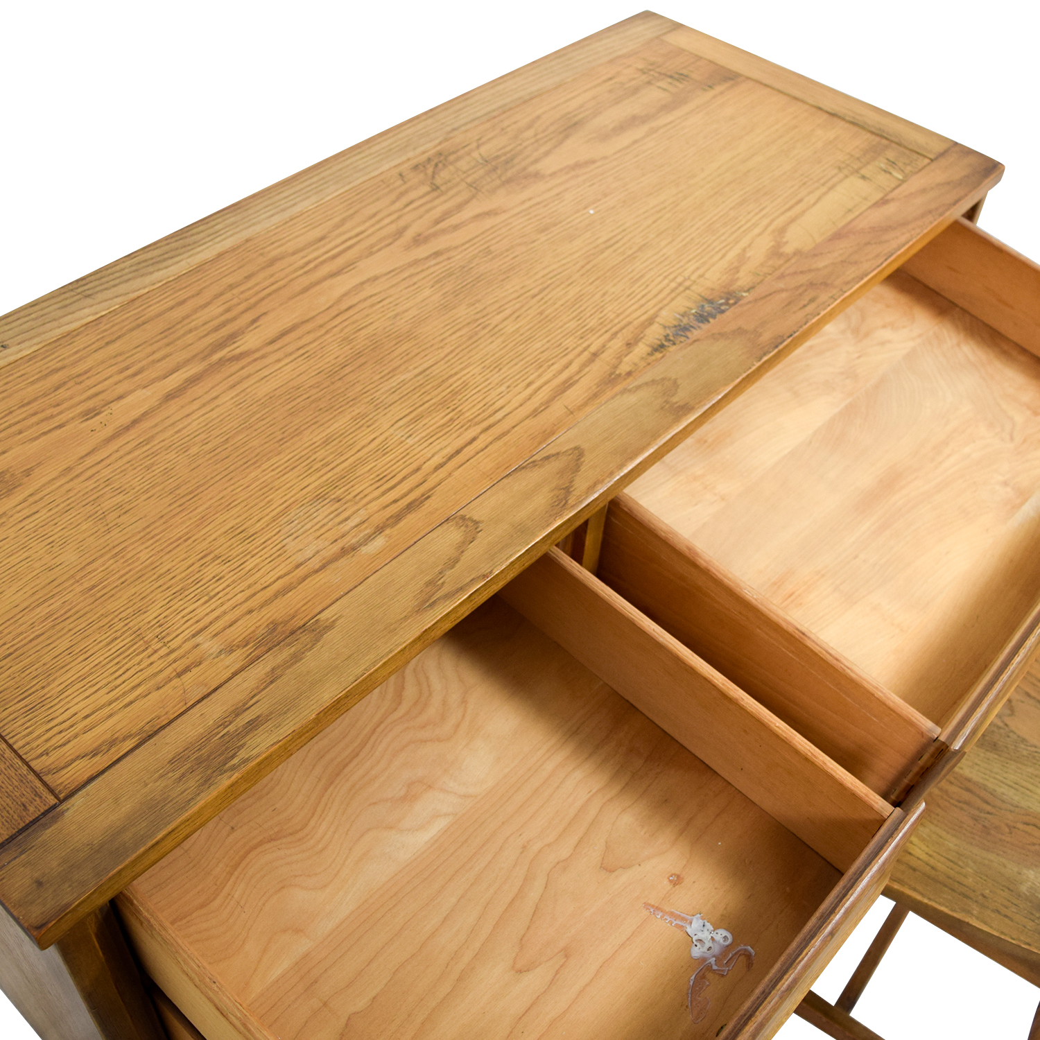 Vintage Mid Century Oak Desk with Chair sale
