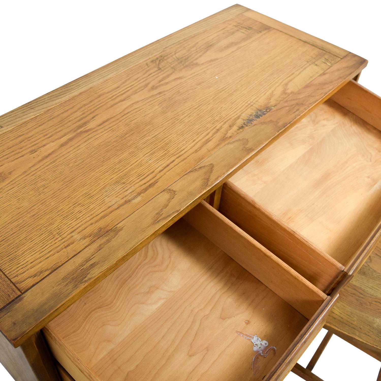 Vintage Mid Century Oak Desk with Chair sale