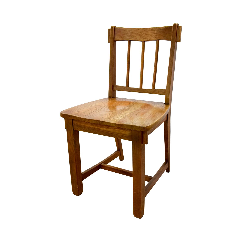 shop Vintage Mid Century Oak Desk with Chair