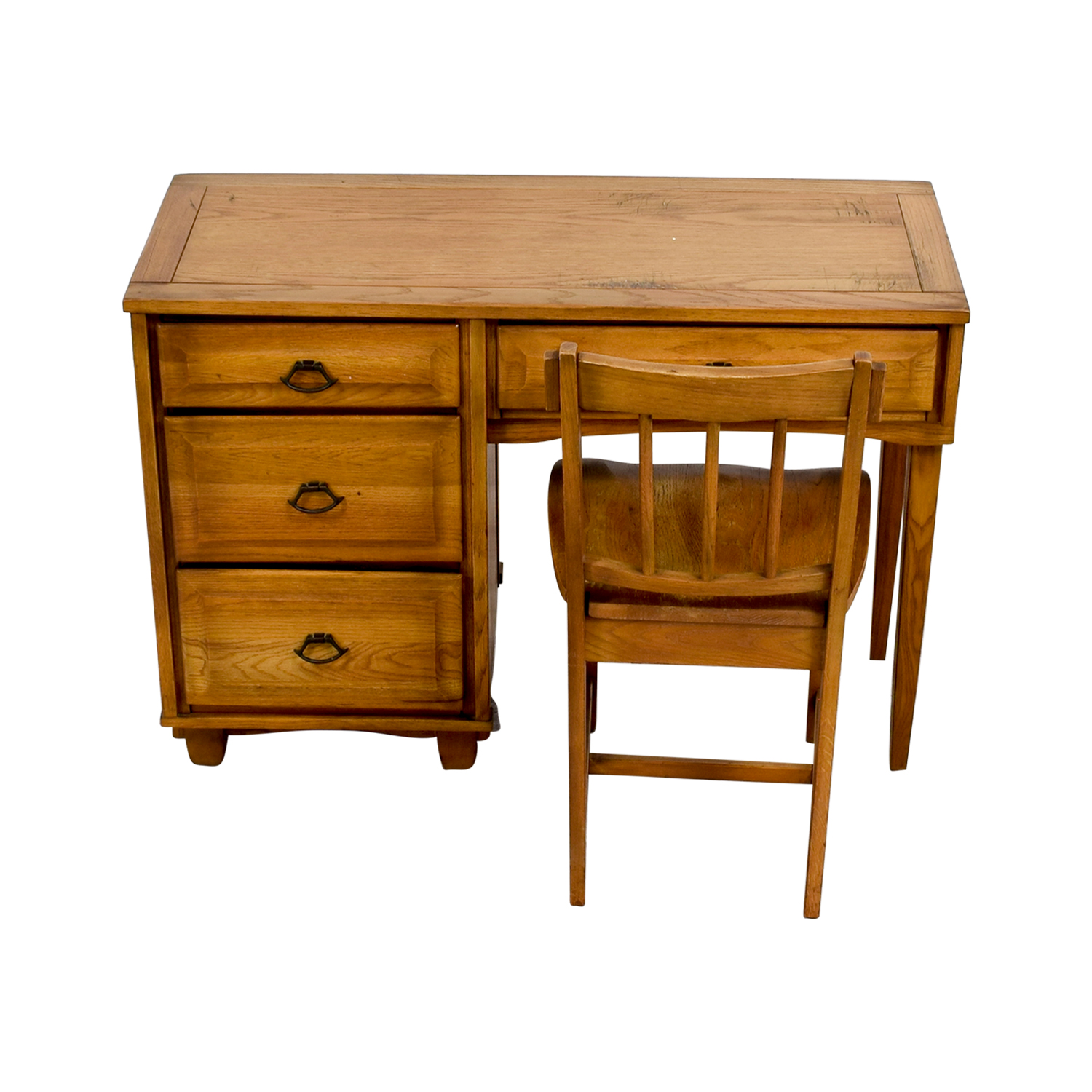 shop Vintage Mid Century Oak Desk with Chair