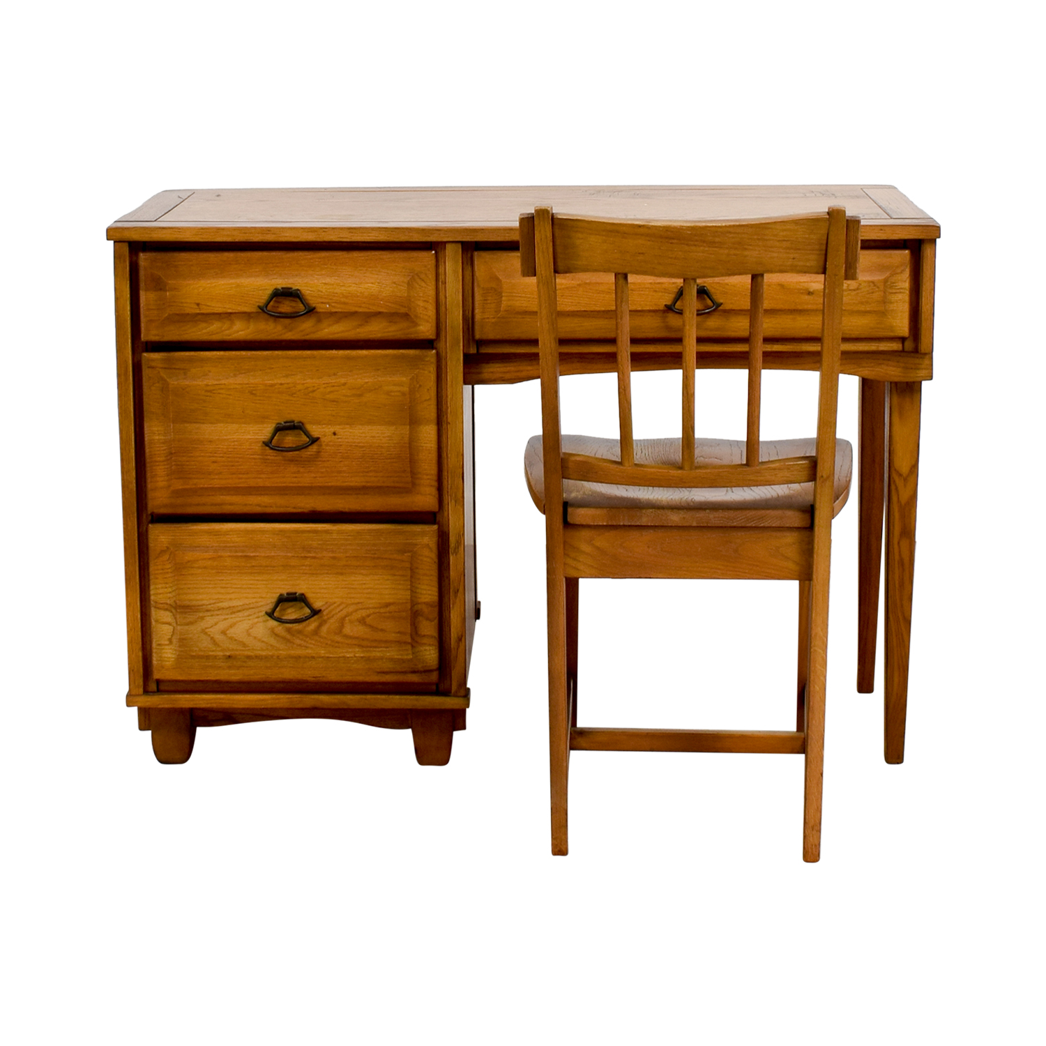 buy Vintage Mid Century Oak Desk with Chair online