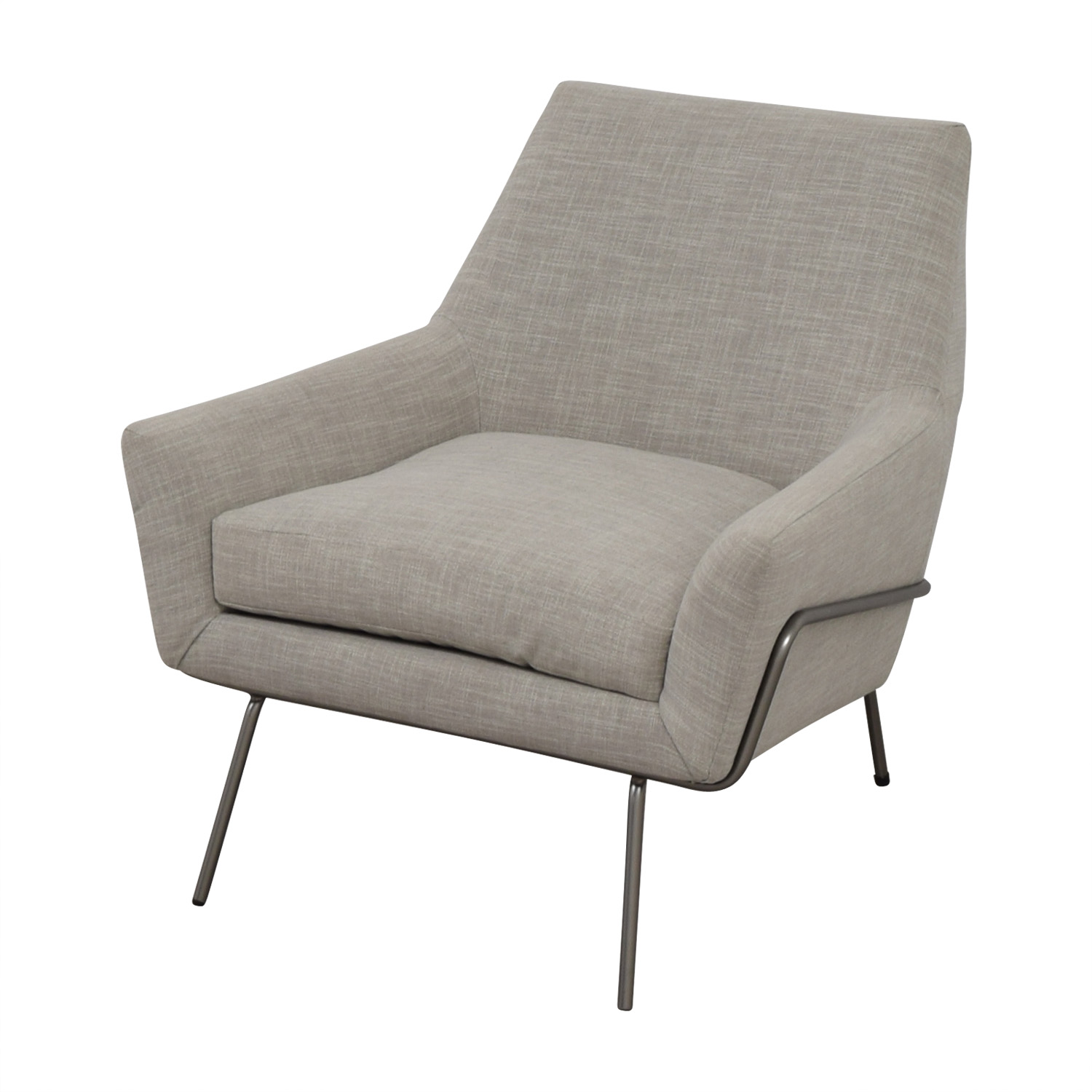 West Elm West Elm Lucas Grey Wire Base Chair coupon