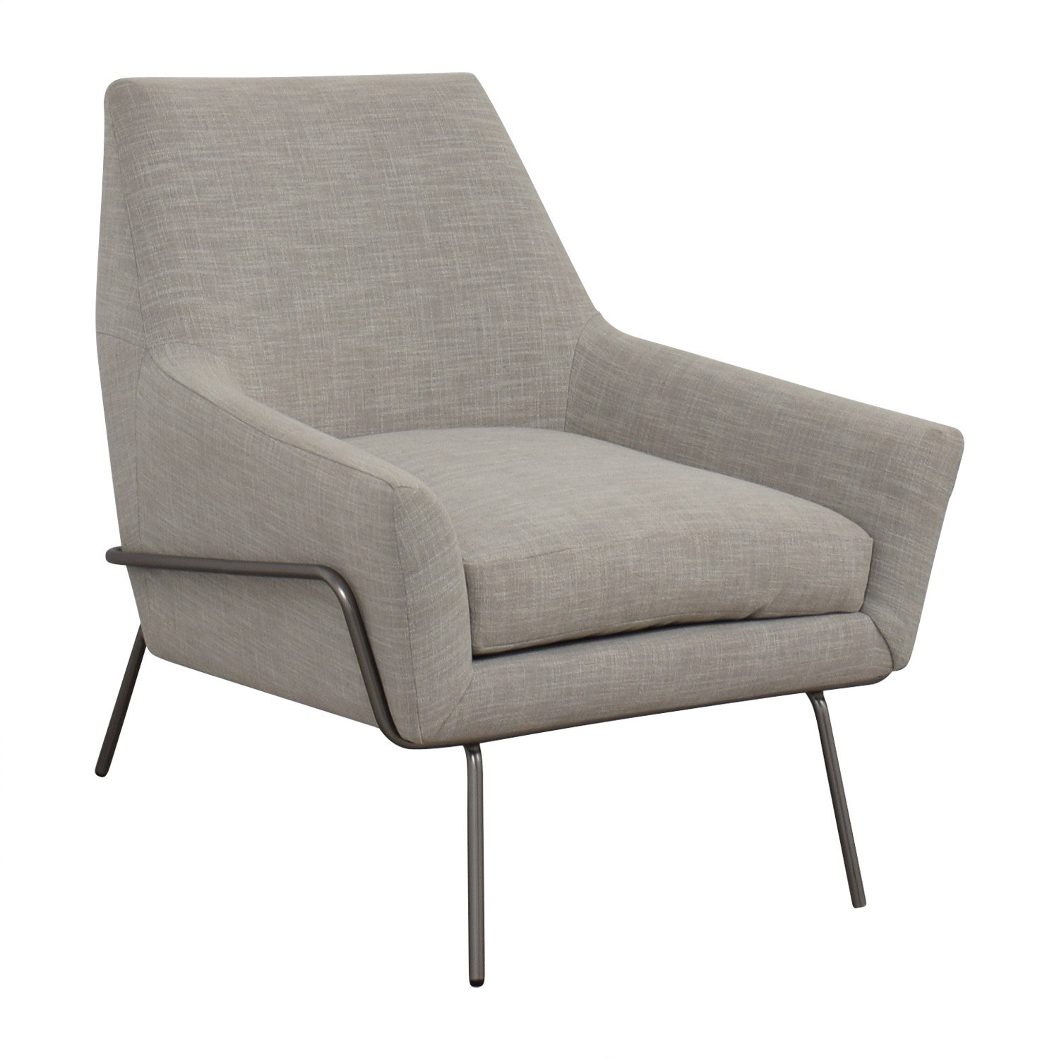 West Elm West Elm Lucas Grey Wire Base Chair dimensions