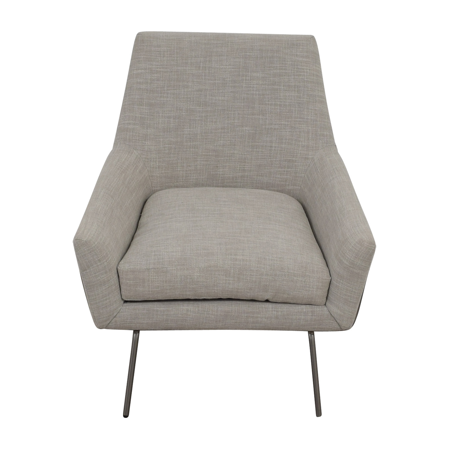 ... West Elm West Elm Lucas Grey Wire Base Chair Chairs ...