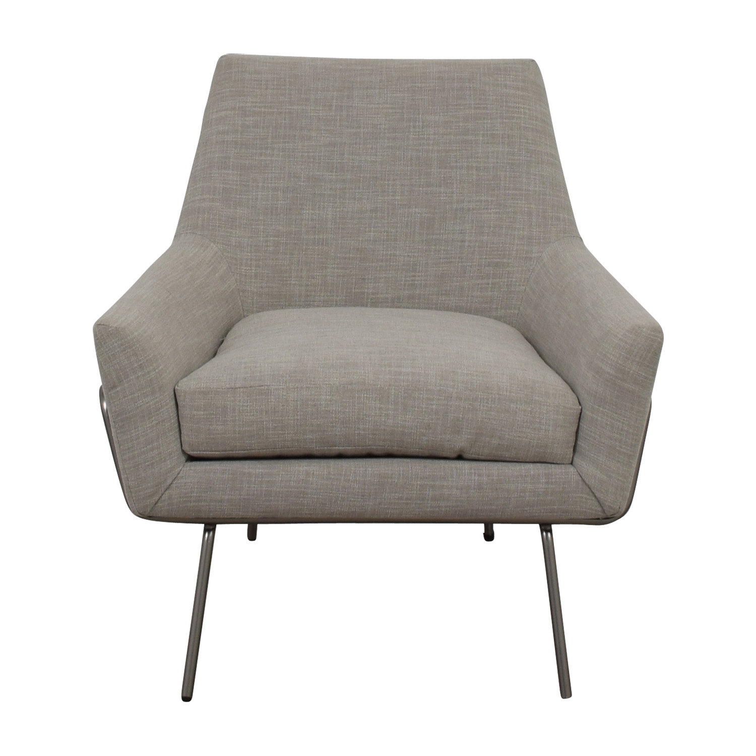 West Elm West Elm Lucas Grey Wire Base Chair price