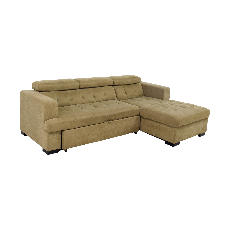 59% OFF - Bob\'s Discount Furniture Bob\'s Furniture Gold Chaise ...