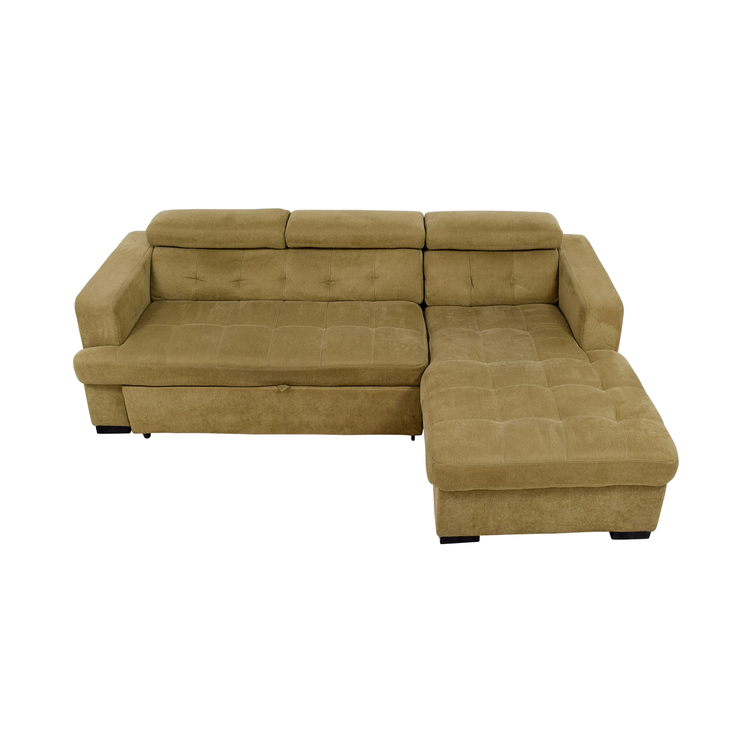 buy Bobs Furniture Gold Chaise Sectional Sleeper Sofa Bobs Furniture Sofas