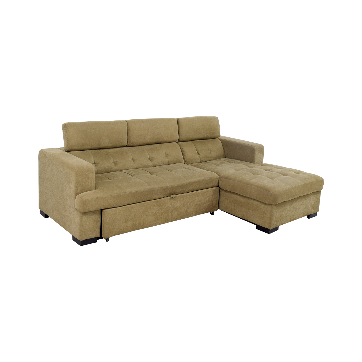 59 OFF Bobs Furniture Bobs Furniture Gold Chaise Sectional