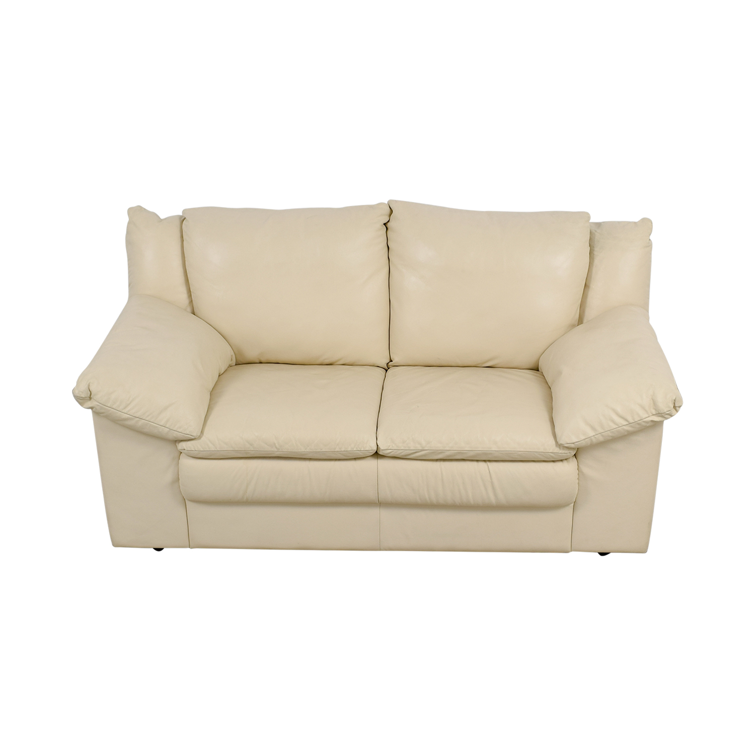 Scan Design Furniture Scan Design Leatherette Loveseat Loveseats