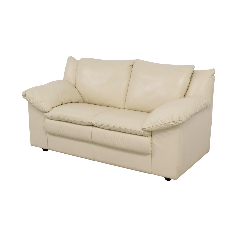 ... Scan Design Furniture Scan Design Leatherette Loveseat Loveseats ...